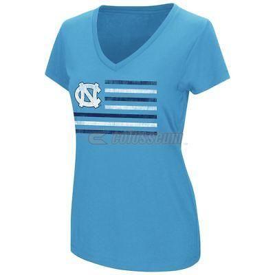North Carolina Tarheels T-Shirt Womens UNC NCAA Powerplay Tee Blue