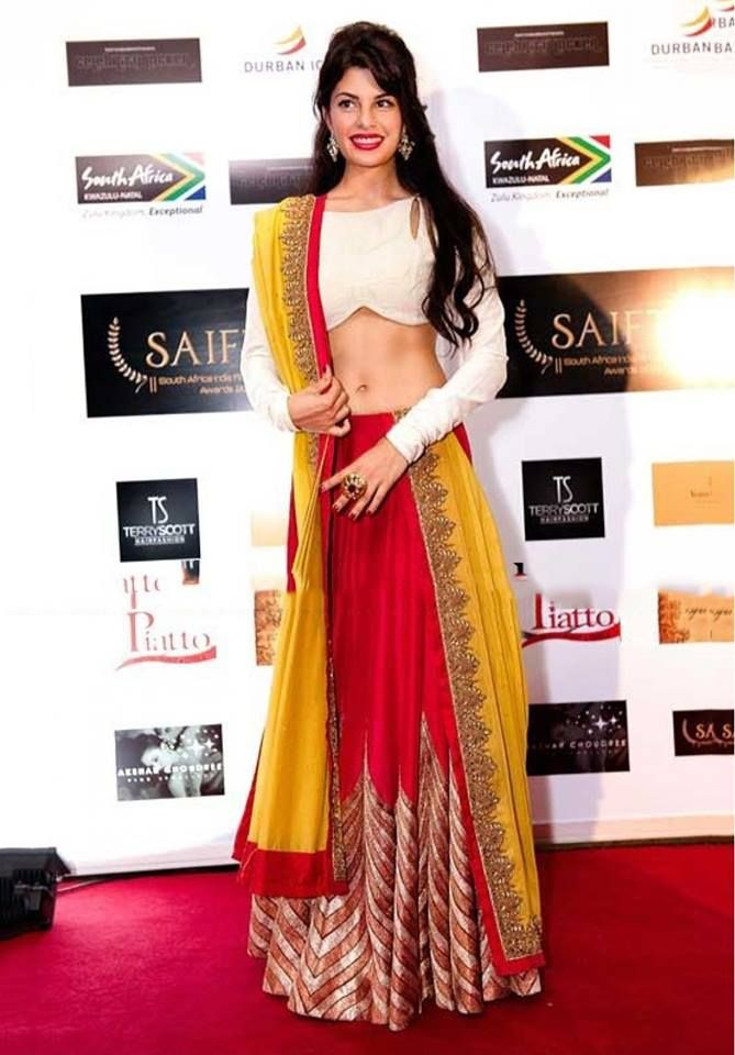 Let's Grab This Lehenga and Try To Look Beautiful as well as Stylish Like jequeline fernandez..!