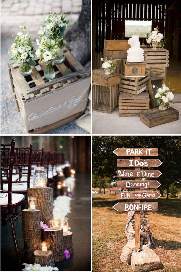 Gemütlichkeit durch natürliche Materialien Wenn es um Hochzeiten geht kann man ja nie genug Inspirationen für die Dekoration haben. Und da es langsam aber sicher auf den Herbst zugeht, haben wir he…