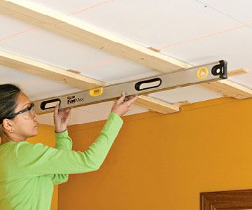 making a wavy ceiling flat with furring strips ceiling on dry wall id=76455