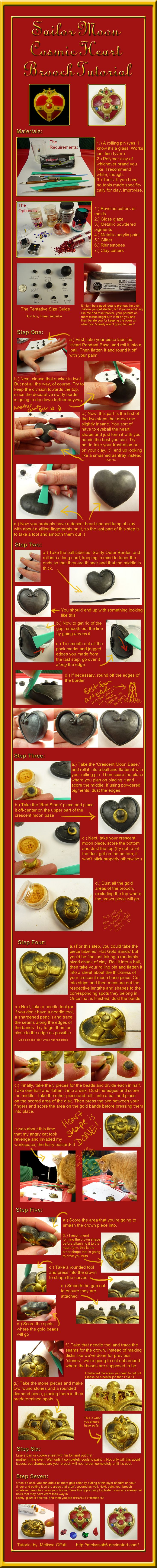 Sailor Moon Cosmic Heart Brooch Tutorial by Melyssah6.deviantart.com