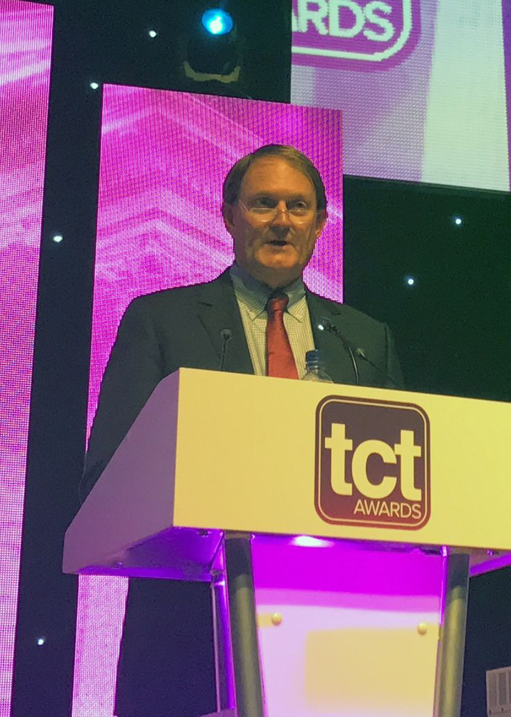 Inducted into the TCT Hall of Fame: Scott Crump accepts award during the ceremony. Crump is the inventor of Fused Deposition Modeling, and Co-Founder & Chief Innovation Officer of Stratasys. (Photo: Stratasys)