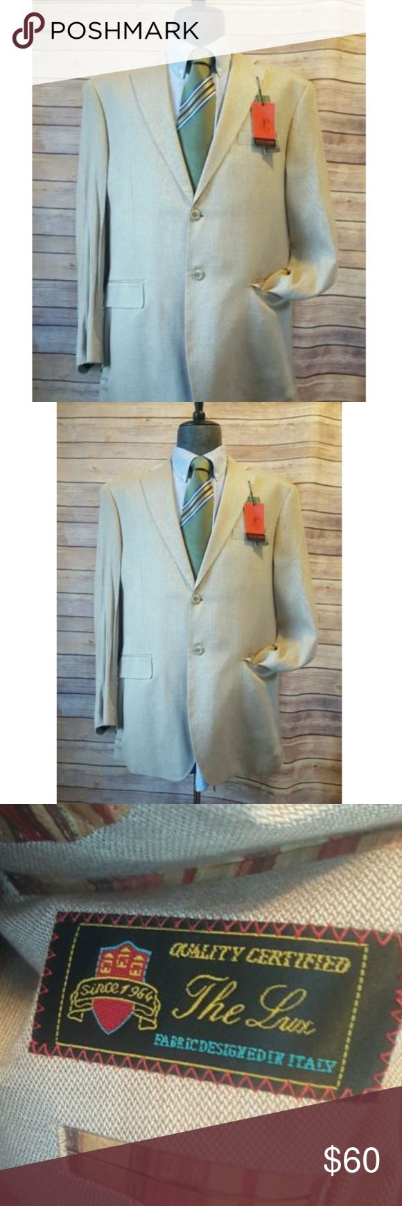 Pronto Moda Elite NWT Mens 42R Light Brown Blazer New with tags Pronto Moda Mens Blazer    Item Description:  Pronto Moda Elite Blazer, NWT condition, measurements are in the photos             Brand: Pronto Moda   Color: Light brown  Pattern: Solid Pronto Moda Elite Suits & Blazers Sport Coats & Blazers