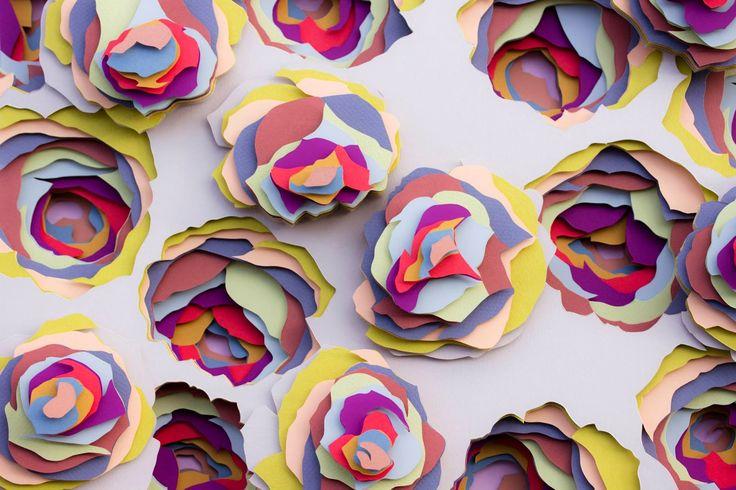 Paper art by Maud Vantours | Scandinavian Deko.