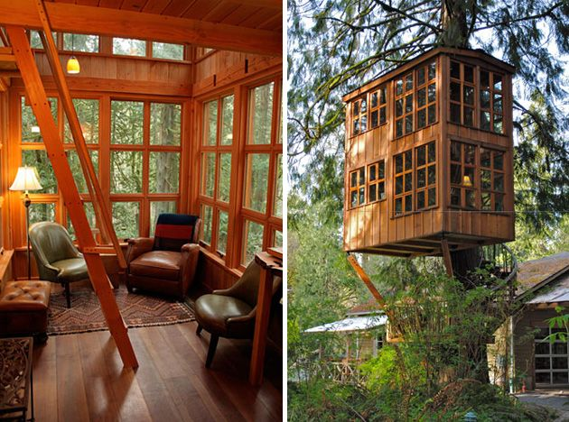 Whimsical Treehouse Point Getaway In Issaquah Wa 9
