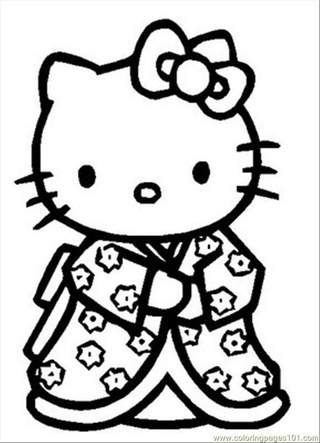 Printable Hello Kitty Coloring Pages Hello Kitty Coloring Pages Pdf Coloring Home In 2020 Hello Kitty Printables Hello Kitty Colouring Pages Kitty Coloring