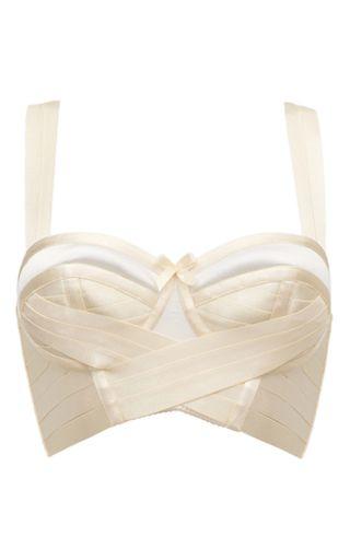 Bondage Wrap Bra In Cream by BORDELLE Now Available on Moda Operandi