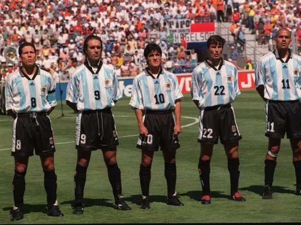 Simeone, Batistuta, Ortega, Zanetti and Verón, 1998
