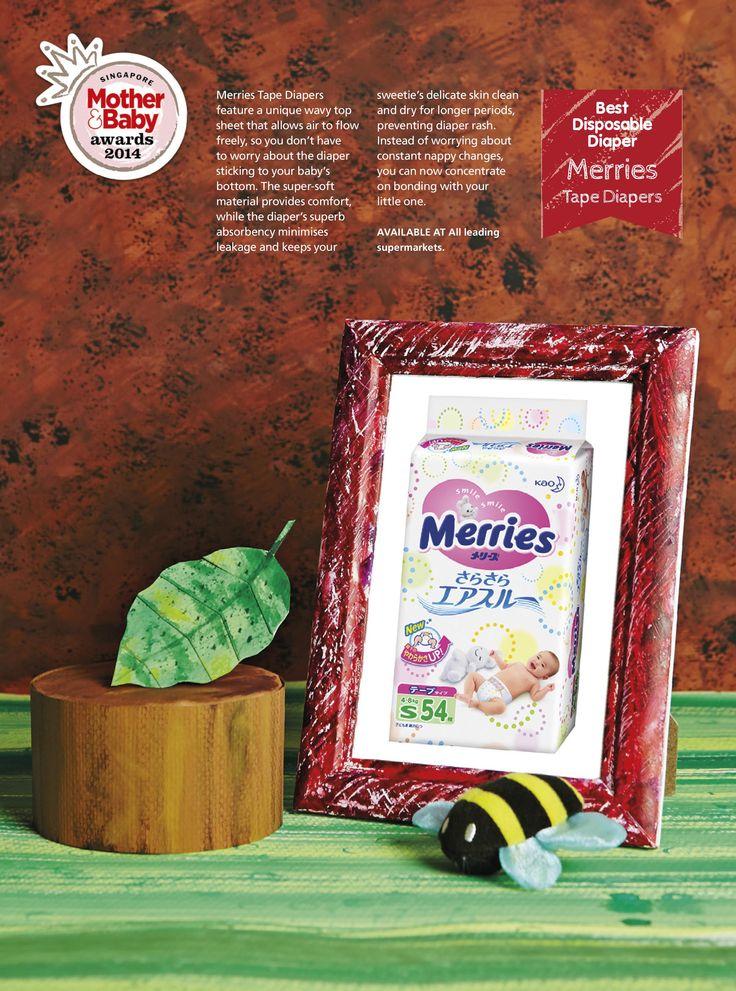 Best Disposable Diaper: Merries - Tape Diapers