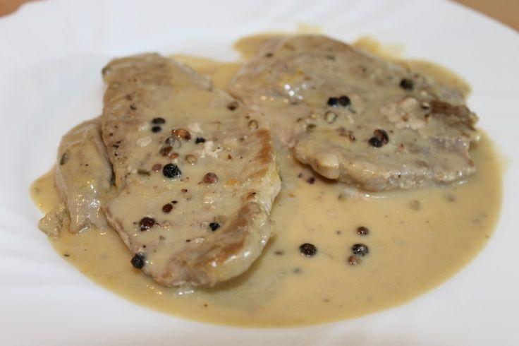 Cotlet de porc cu sos de piper
