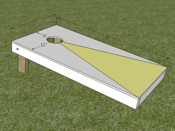 How to Build a Regulation Cornhole Set:  From DIYNetwork.com from DIYnetwork.com