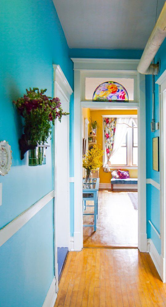 Amy's Vintage Jewel Tone Apartment House Tour | Love the use of such bright colors!