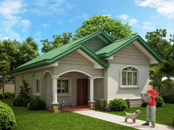 Small 1 1 2 Story House Plans Of One Story Dream Home Series Odh 2015002 Pinoy Dream Home