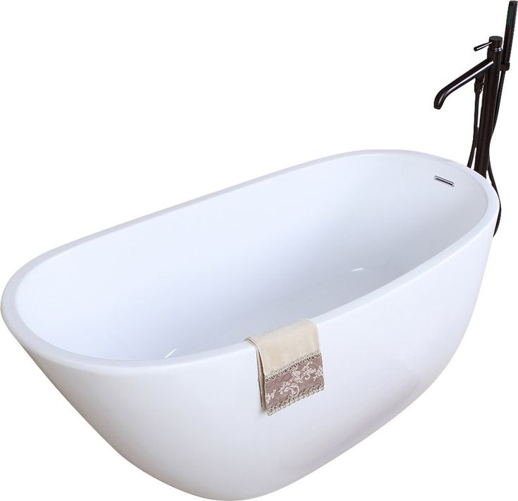 With elegant looks, this Kingston Brass freestanding acrylic tub transforms your bathroom into a personal spa. Relax comfortably with the classic slipper design in a durable acrylic tub constructed from 3-5mm acrylic. The bathtub includes waste and overflow and holds up to 52 gallons of water for a spa like experience.