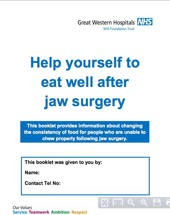Great manual for post jaw surgery.