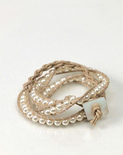 Mit Perlen geknüpftes Armband - weddingstyle.de