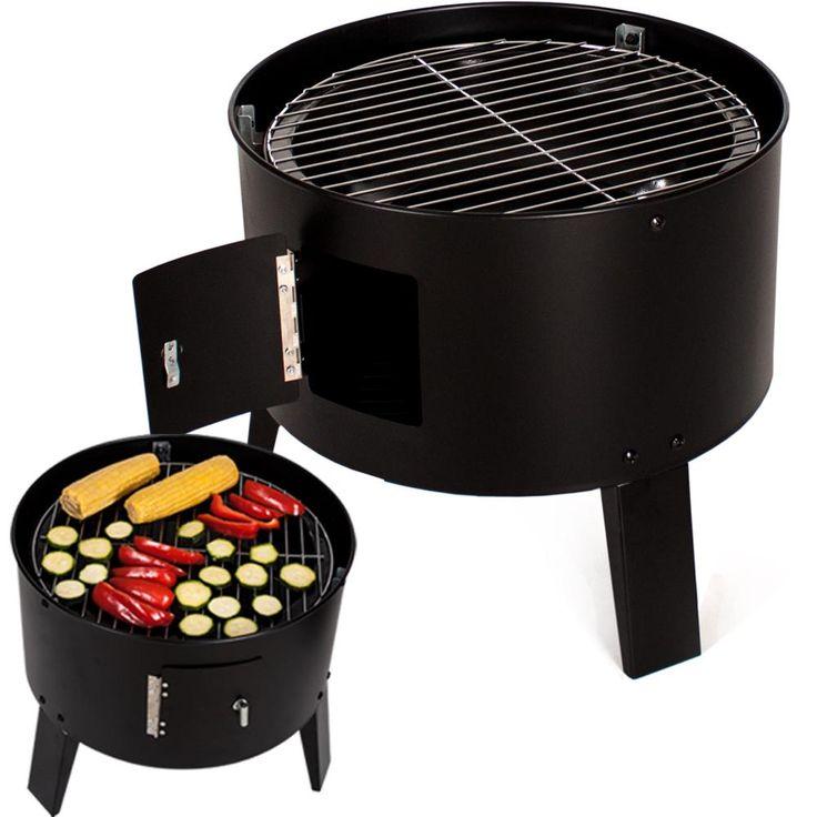 Barbecue grill wagon charbon de bois 3in1 fumoir