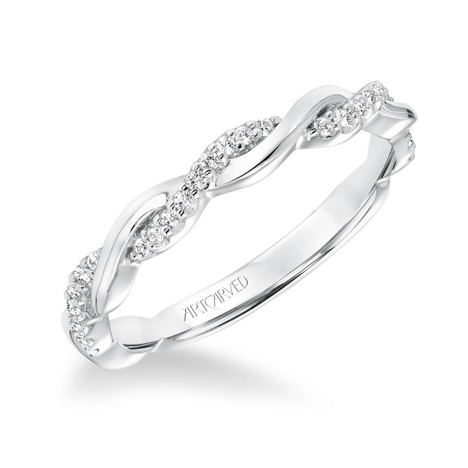 ArtCarved. See more details about this ring at ArtCarvedBridal.com��Diamond twisted wedding band to match 31-V657. Available in platinum, 18k white or yellow gold, 14k white or yellow gold or palladium.