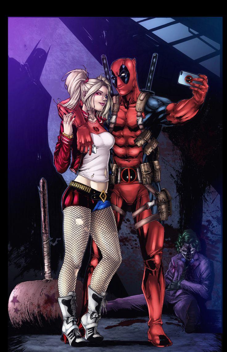 52 best images about my art on pinterest - Deadpool harley quinn notebook ...