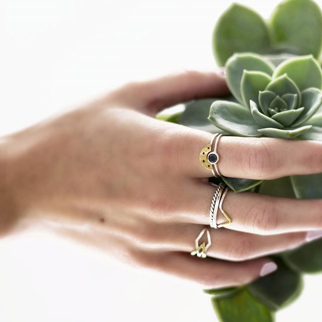Sieze the day! Wednesday hump day and we are ring crazy today  Photo by the lovely @gypsydreamsphotography #Wednesday #seizetheday #ringoftheday #handmade #southafricandesign #stackingrings #ring #succulent #gold #silver #blackdiamond #jewelrygram #adinkra  #maryjeanjewellery #maryjean #humpday