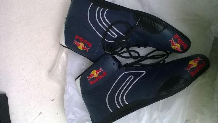 REDBULL Go Kart Racing Shoes with free Gift Balaclava #Handmade