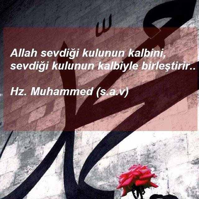Allah sevdigi kulunun kalbini, sevdigi kulunun kalbiyle birlestirir..
