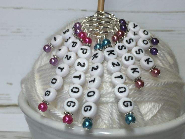 These pattern helper markers are designed to help you keep track of your knitting increases and decreases. The stitch marker is placed where the instruction should happen. The set can be ordered with
