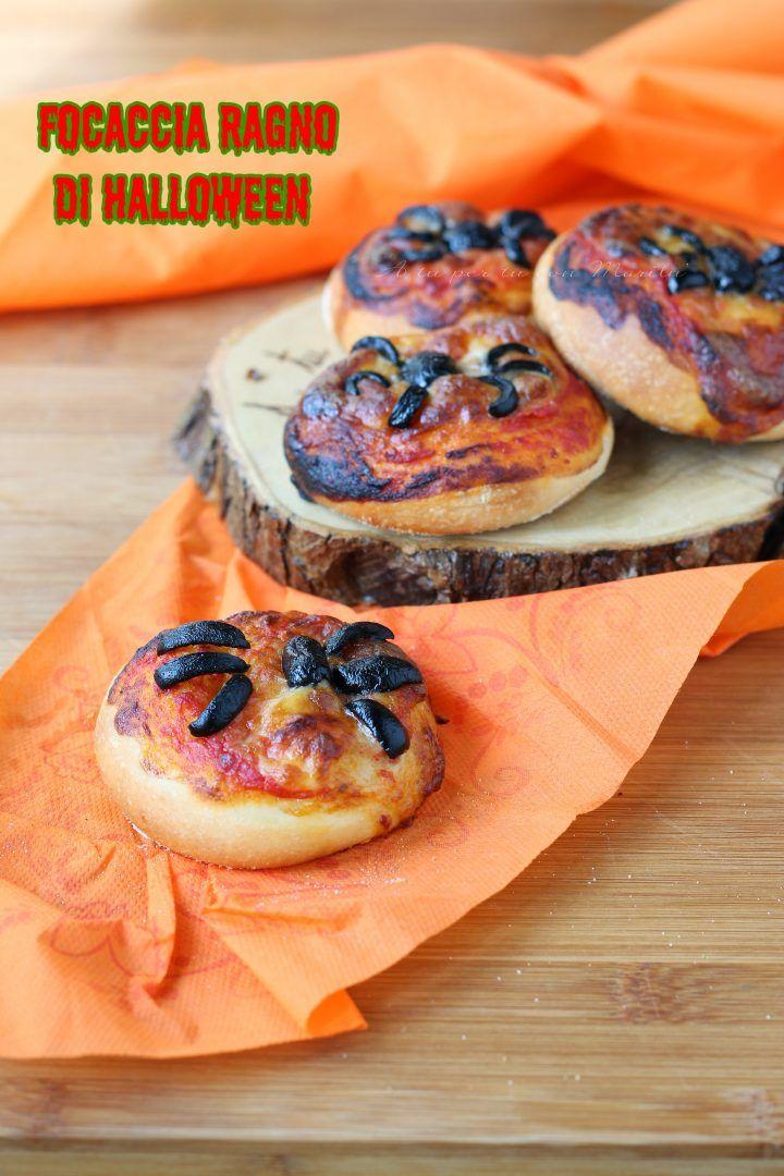 Focaccia ragno di halloween | Ricetta | In cucina con Marilù ...