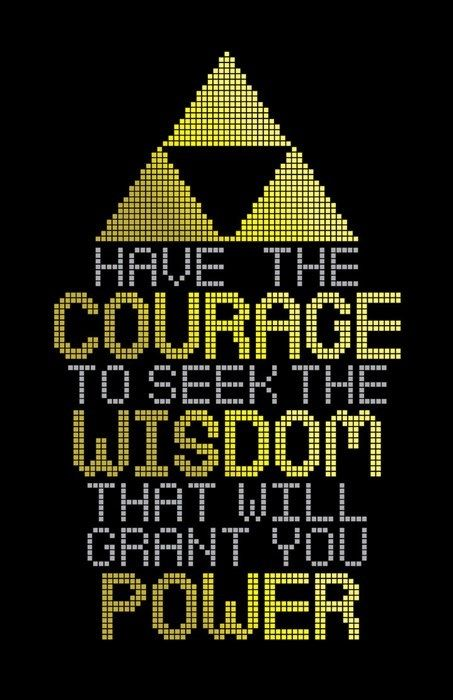 Courage Wisdom Power | Legend Of Zelda Triforce Motivation m