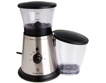 Features/Specifications Product code: 10934 Stainless Steel finish Grinds all types of coffee beans Coffee container with lid Non slip feet with base Burr mill for consistent uniform milling Adjustable fineness control and quantity selector For domestic use onlyFeatures/Specifications Product code: 10934 Stainless Steel finish Grinds all types of coffee beans Coffee container with lid Non slip feet with base