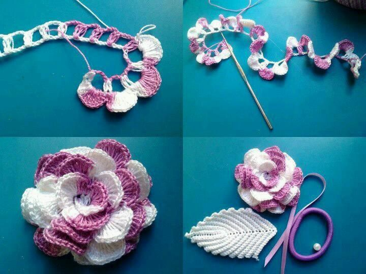 DIY Crochet Flowers: DIY Crochet Flowers DIY Crafts : DIY Crochet flower. The color change in this so pretty. Oh inspiration.