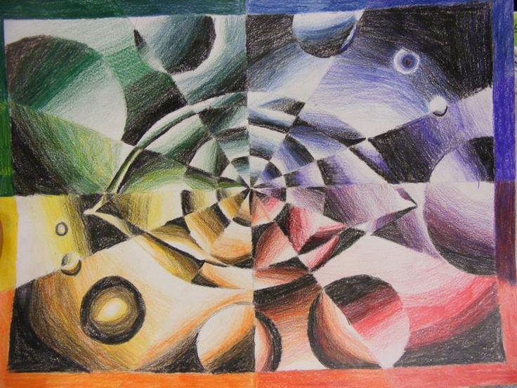 Color Wheel Value Drawing by Sade Santiago