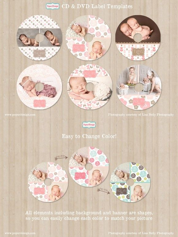CD / DVD Label Templates. Stationery Templates