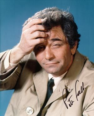 peter falk as columbo...after watching an episode, of him constantly nagging at the suspect...they had no choice, but to confess!!