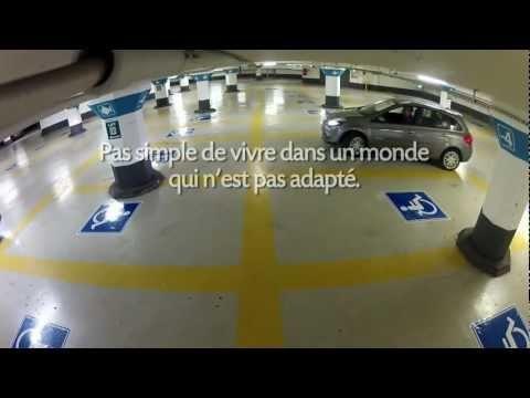 Extraordinaire sensibilisation au handicap dans un parking !   BLOGU3, Le Blog de l'agence de communication interactive CREATIV3, Martinique, Guadeloupe, Guyane...