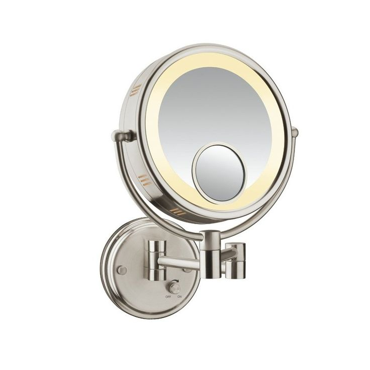 Conair Brushed Nickel Metal Wall-Mount Vanity Mirror $69.99