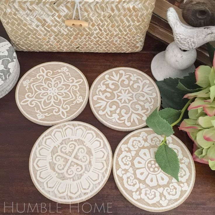 Set of 4 Round Patterned Coasters. Direct Bank Deposit: Drop into your local Westpac Bank branch and deposit the money directly into our account. We will give you the bank account details when you hit checkout. | eBay!