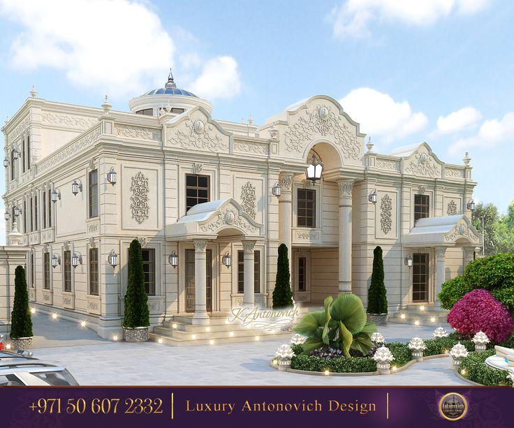 89 best exteriors images on pinterest for Luxury classic villa design