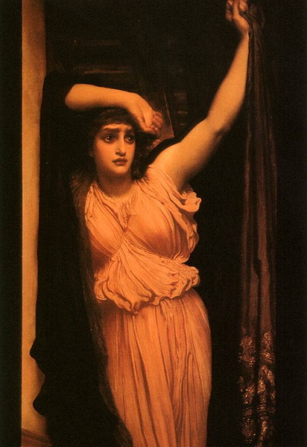 The Last Watch of Hero,   Frederic Leighton: Lord Leighton, Preraphaelite, Heroes, Art Frederic Leighton, Frederick Leighton, Watches, Painting, Frederic Leigthon