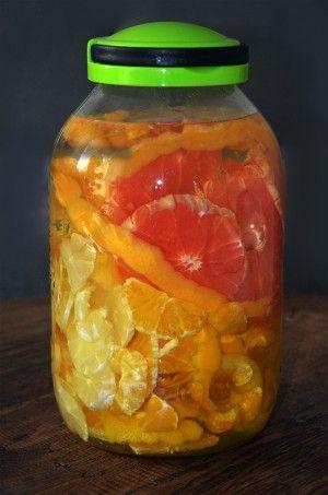 Nalewka 3 cytrusy - pomarańczowo grejpfrutowo cytrynowa