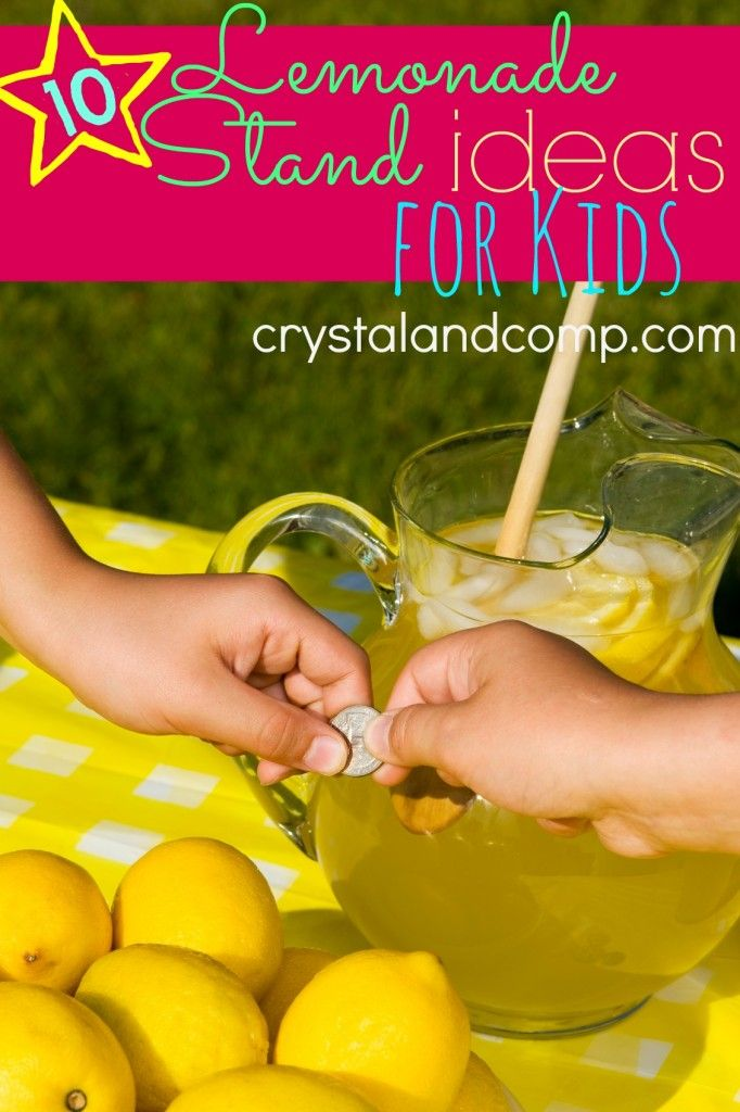 Cute Lemonade Stand Printables. Even the simplest of tables can be made extraordinarily pretty with 4 cute lemonade stand signs offered in the below guide. Additionally, you have printable templates for bunting and pinwheels. DIY Details: overthebigmoon. Crooked Signboard Lemonade Stand.