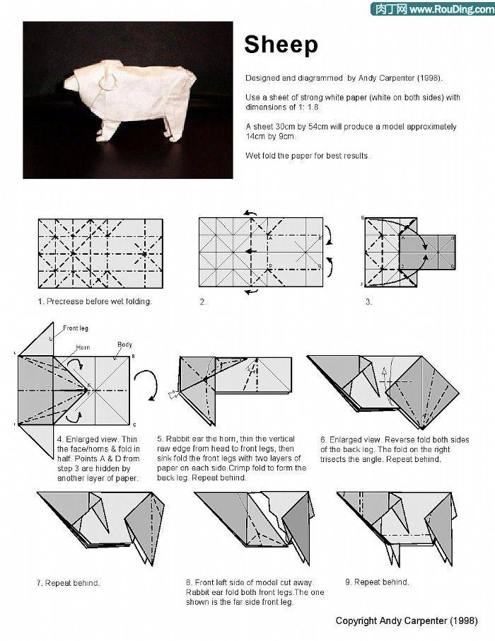 BETH JOHNSON ORIGAMI SHEEP | Origami Sheep http://www.doorigami.com/sheep-origami.html