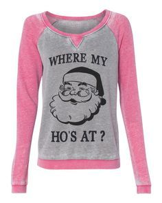 Holiday ugly christmas sweater Where my ho's at - funny womens pullover sweatshirt ladies girls