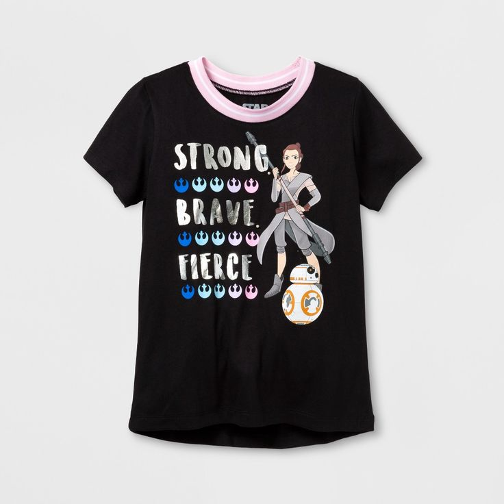 Girls' Star Wars Forces Of Destiny Ringer T-Shirt - Black XL