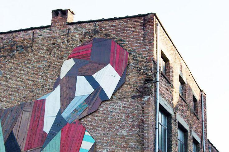 Stefaan De Croock street art using old doors