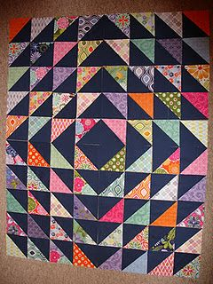 HST quilt Love the black contrast or is it navy?