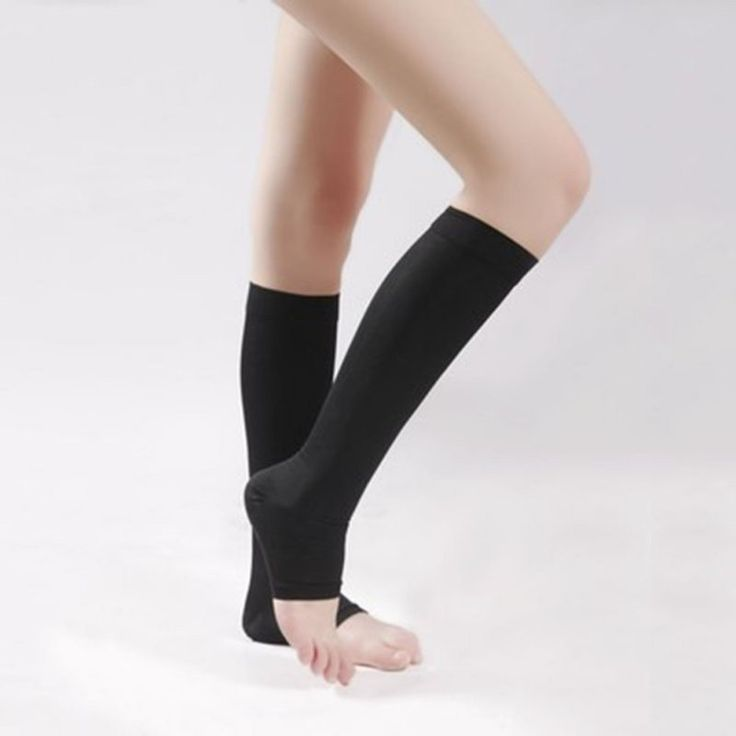 3 Pair - Anti-Fatigue Knee High Compression Stockings Open Toe