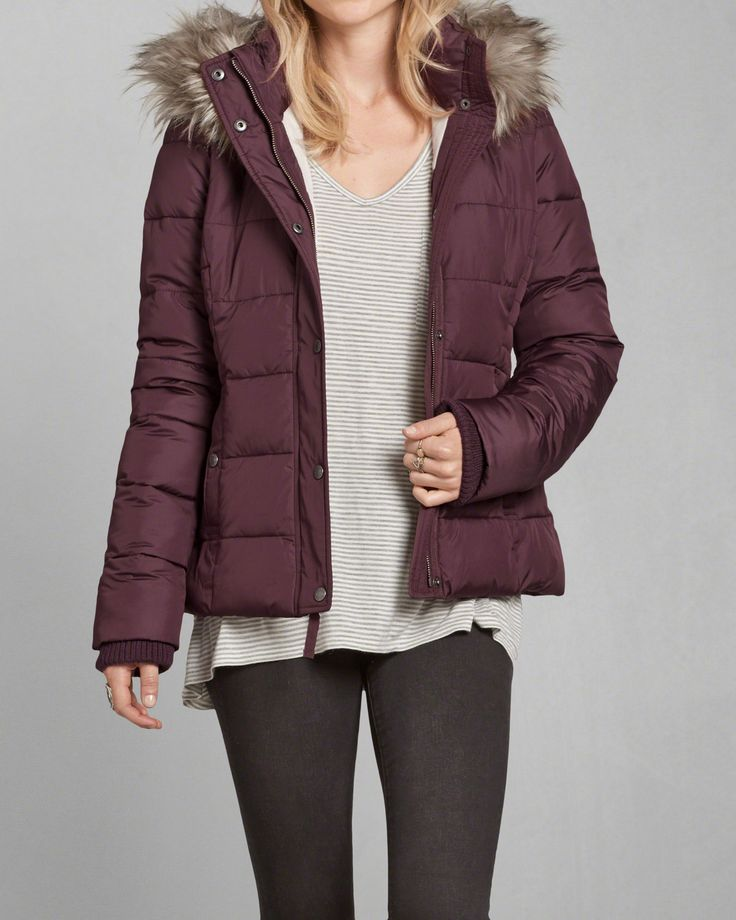 Abercrombie Accessories Abercrombie Accessories Abercrombie Womens Abercrombie Couple Abercrombie Womens: Womens A&F Hooded Puffer Jacket