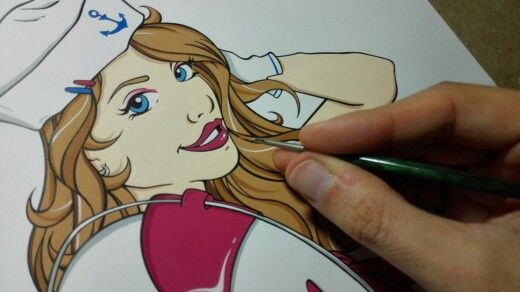 Sailor Pin'Up ~ Make up time