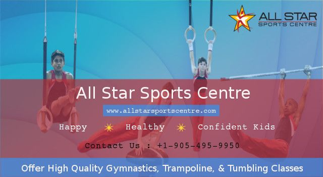 All Star Sports Centre, offer full gymnastics,trampoline, & tumbling training classes in Brampton. We have professional coaches & friendly staff who teach gymnastics lessons & make them healthy, happy & confident kids. Contact us now to know or more detail.